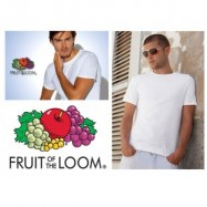 12 X FRUIT OF THE LOOM T-SHIRTS 100% KATOEN WIT