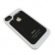iPhone 4 bumper Zwart/Wit