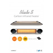 Veito Blade S Black Carbon Infrarood Heater 2500 WATT - RC