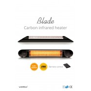 Veito Blade Black Carbon Infrarood Heater 2000 WATT - RC